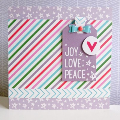 Elle's Studio - Joyful - Joy Love Peace card