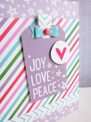 Elle's Studio - Joyful - Joy Love Peace card - detail