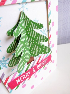 Elle's Studio - Joyful - Merry & Bright card - detail