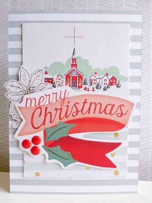 My Mind's Eye - Christmas on Market Street - Large Merry Christmas card