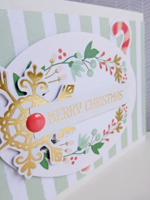 My Mind's Eye - Christmas on Market Street - Merry Christmas card - detail