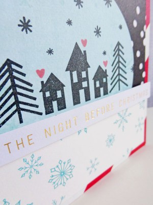 'Twas the Night Before Christmas card - detail