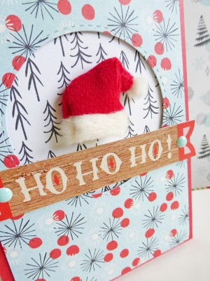 Basic Grey - Juniper Berry - Ho Ho Ho card - detail