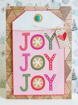 Basic Grey - Juniper Berry - Joy card