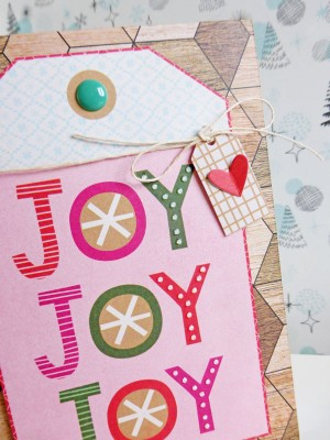 Basic Grey - Juniper Berry - Joy card - detail