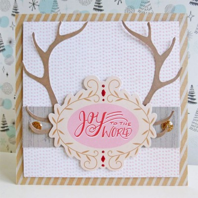 Basic Grey - Juniper Berry - Joy to the World card