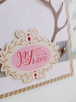 Basic Grey - Juniper Berry - Joy to the World card - detail