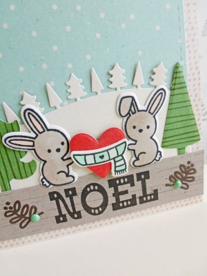 Basic Grey - Juniper Berry - Noel card - detail
