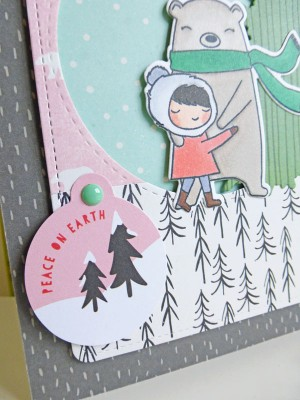 Basic Grey - Juniper Berry - Peace on Earth card - detail