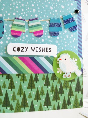 Pebbles Inc. - Winter Wonderland - Cozy Christmas card - detail