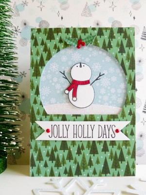 Pebbles - Winter Wonderland - Jolly Holly Days card