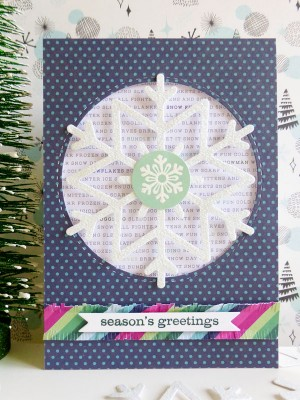 Pebbles - Winter Wonderland - Snowflake card