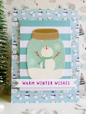 Pebbles - Winter Wonderland - Warm Winter Wishes card