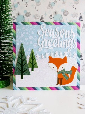 Pebbles - Winter Wonderland - Winter Fox card