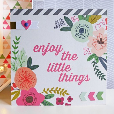 MME On Trend 2 - Enjoy the little things card