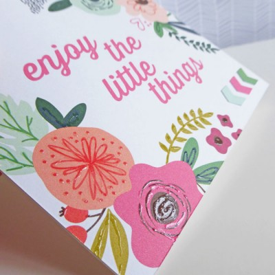 MME On Trend 2 - Enjoy the little things card - detail