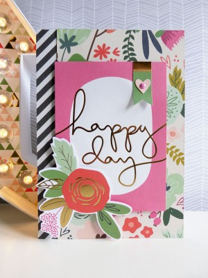MME On Trend 2 - Happy Day card