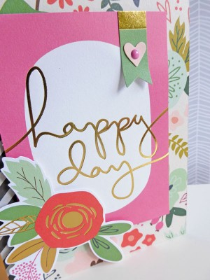 MME On Trend 2 - Happy Day card - detail