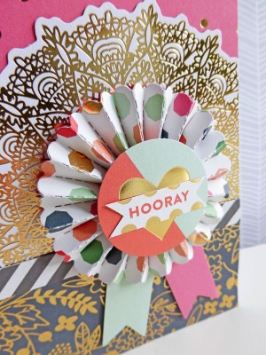 MME On Trend 2 - Hooray card - detail
