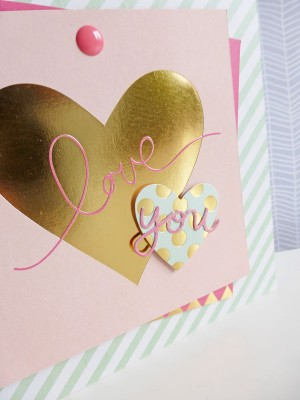 MME On Trend 2 - Love You card - detail