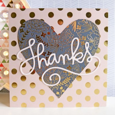 MME On Trend 2 - Thanks card