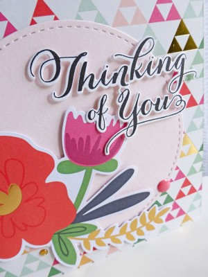 MME On Trend 2 - Thinking of You card - detail