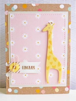 Pebbles - Spring Fling - Baby congrats card