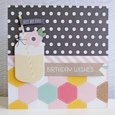 Pebbles - Spring Fling - Birthday Wishes card