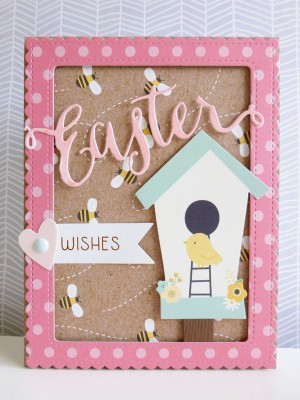 Pebbles - Spring Fling - Easter Wishes card