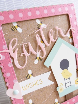 Pebbles - Spring Fling - Easter Wishes card - detail