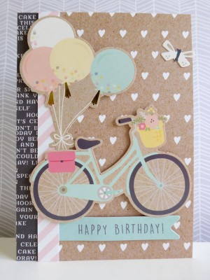 Pebbles - Spring Fling - Happy Birthday card
