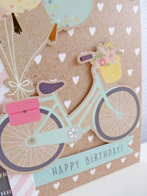 Pebbles - Spring Fling - Happy Birthday card - detail
