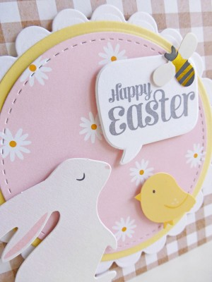 Pebbles - Spring Fling - Happy Easter card - detail