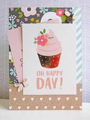 Pebbles - Spring Fling - Oh Happy Day card