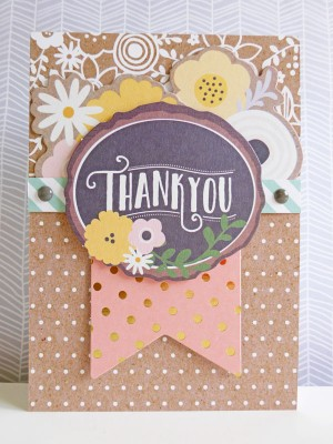Pebbles - Spring Fling - Thank You card