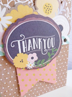 Pebbles - Spring Fling - Thank You card - detail
