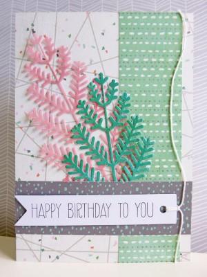 Basic Grey Hillside - Birthday card