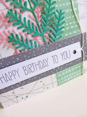 Basic Grey Hillside - Birthday card - detail