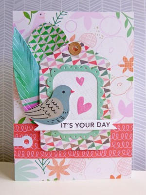 Basic Grey Hillside - It's your day card
