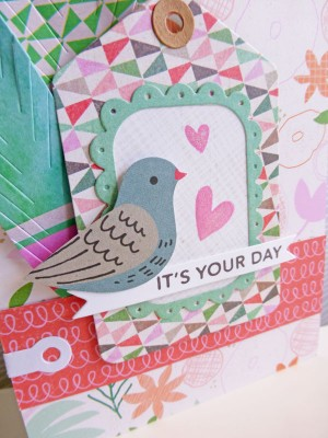 Basic Grey Hillside - It's your day card - detail