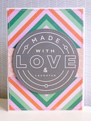 Basic Grey Hillside - Made with Love card
