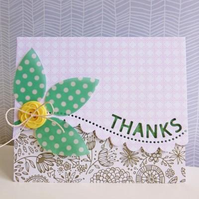 Basic Grey Hillside - Thanks card