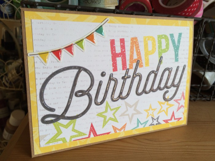 Happy Birthday card side view