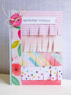 Pink Paislee - Fancy Free - Birthday wishes card