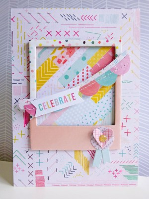 Pink Paislee - Fancy Free - Celebrate card