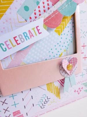 Pink Paislee - Fancy Free - Celebrate card - detail