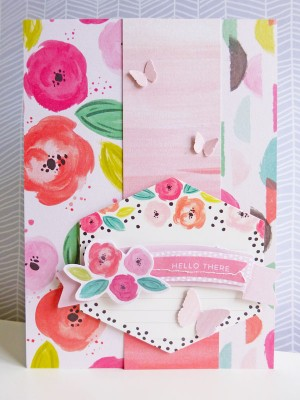Pink Paislee - Fancy Free - Hello there card