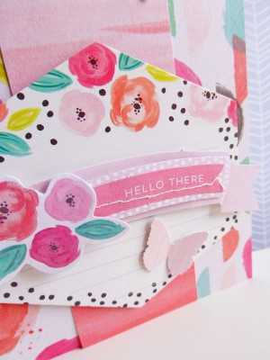 Pink Paislee - Fancy Free - Hello there card - detail