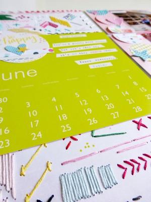 Pink Paislee - Fancy Free - June PL spread - detail 1
