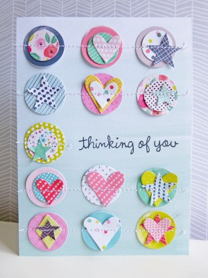 Pink Paislee - Fancy Free - Thinking of you card